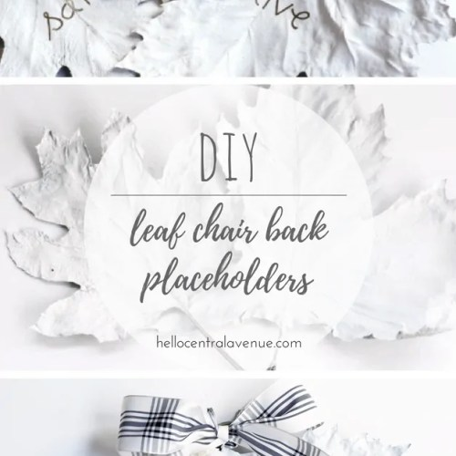 DIY-Leaf Chair Back Placeholders