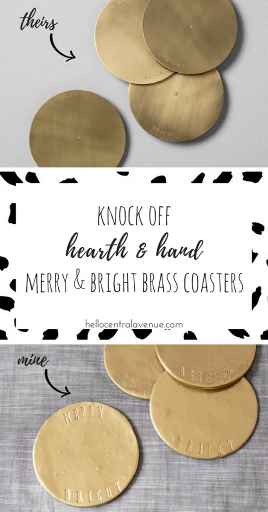Knock Off Hearth & Hand Brass Coasters