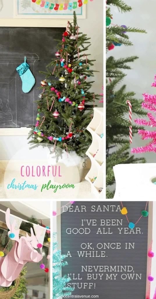 Colorful Christmas Playroom