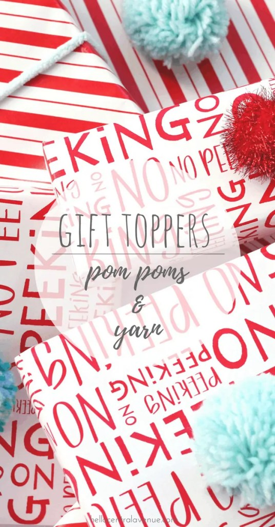 Gift Toppers: Pom Poms and Yarn