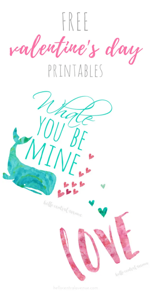 Free Valentine's Day printables to display around your house.