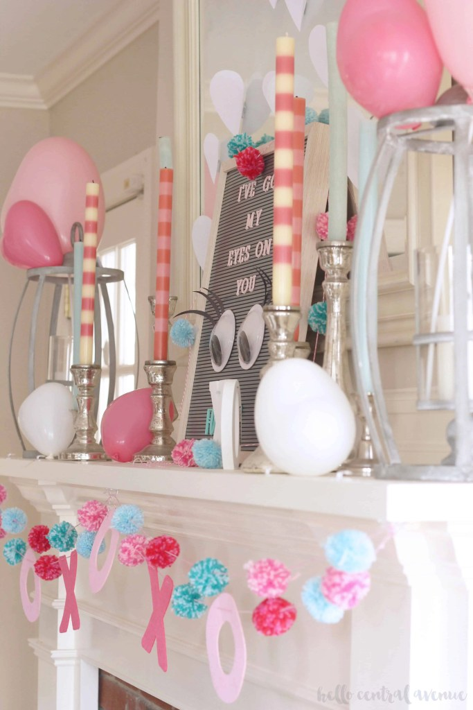 Valentine's Day Mantel and DIY Garlands