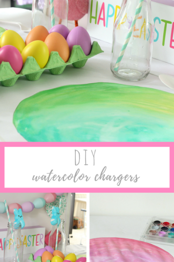 DIY Watercolor Chargers