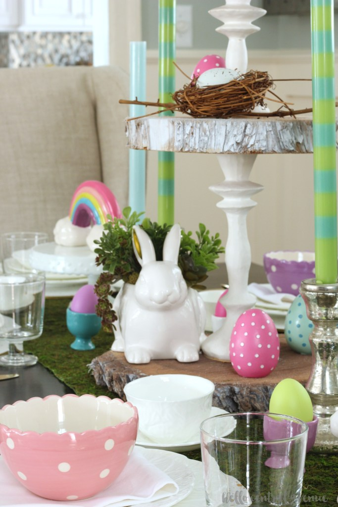 Cheerful & Rustic Easter Table