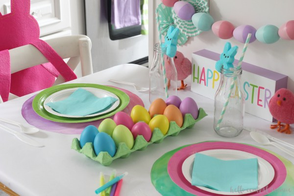 Kid's Easter Table 2