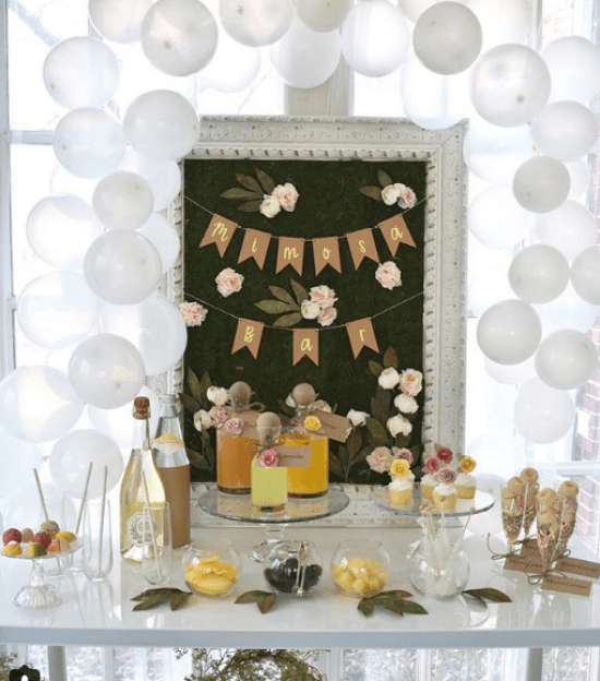 Giggle Home Furnishings mimosa bar-my inspiration for the first communion dessert table