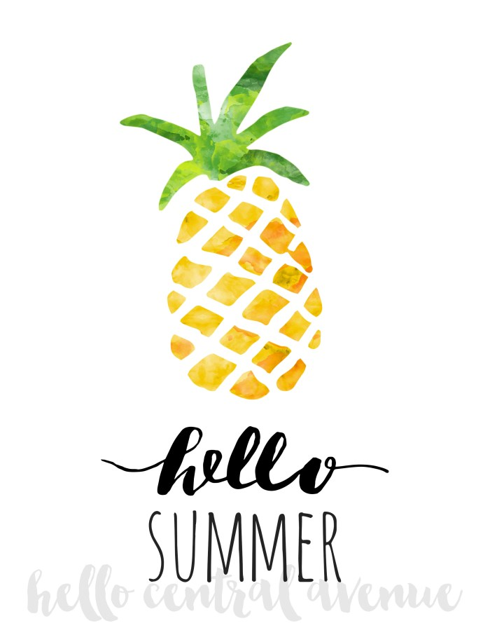 Free Hello Summer print for email subscribers