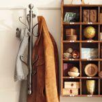 Pottery Barn nickel wall-mount coat rack