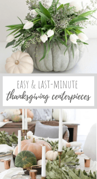 These easy Thanksgiving table decorations will have your company blown away by their beauty! They are simple, easy, and will take you no time at all to pull together!