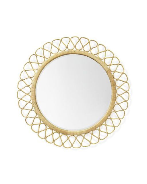 Save some money on your round rattan wall mirror this season by buying the affordable option from Opalhouse by Target! This mirror blends with several styles, especially coastal and boho!