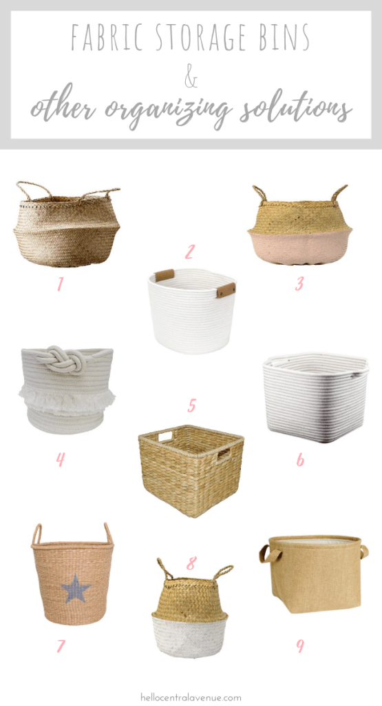 Use these fabric storage bins and other organizing solutions to take control of the clutter around your house! Baskets, totes, boxes, and bins are several ways you can get organized this new year!