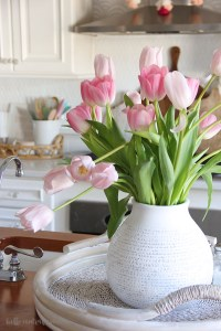 Spring is finally here! It might be inside my home, but I'll take it! These pops of pastel and neutral colors make my home feel bright and happy! I hope to give you some inspiration for your spring home decor!