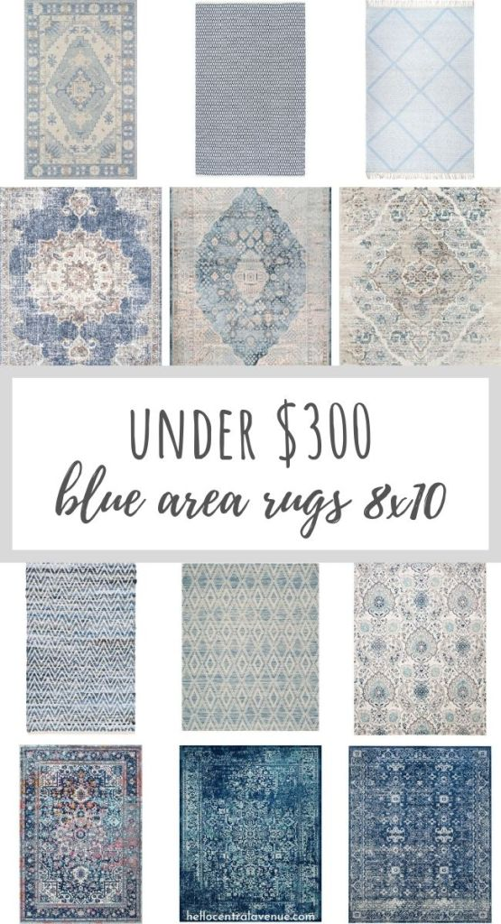 Blue Area Rugs 8×10 for Under $300!