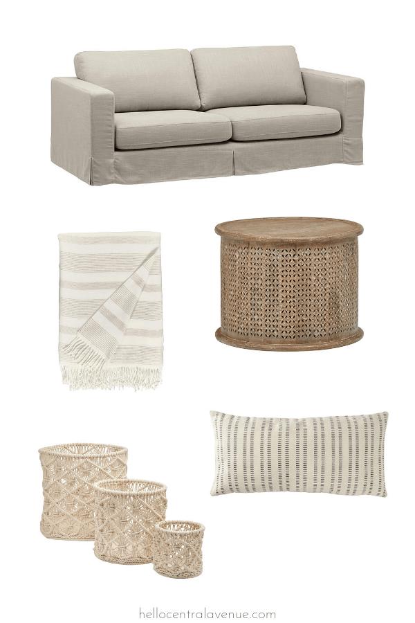 Amazon modern farmhouse coastal home decor. Affordable furniture and decor for your house!