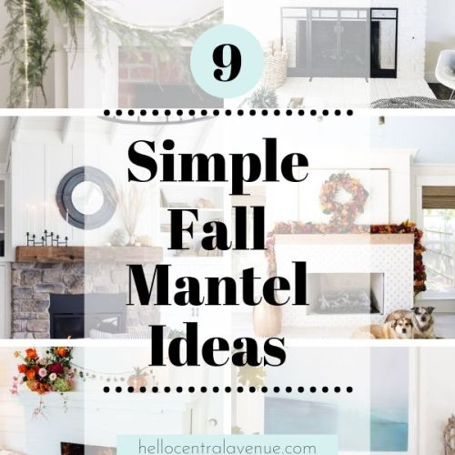 Simple Fall Mantel Ideas