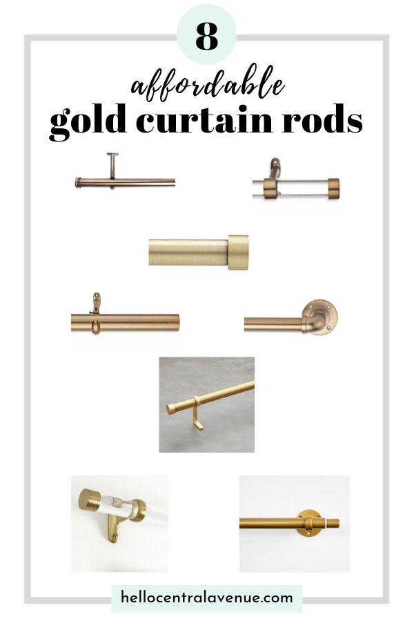 An affordable gold curtain rod is a great way to update your master bedroom! Here are eight!
