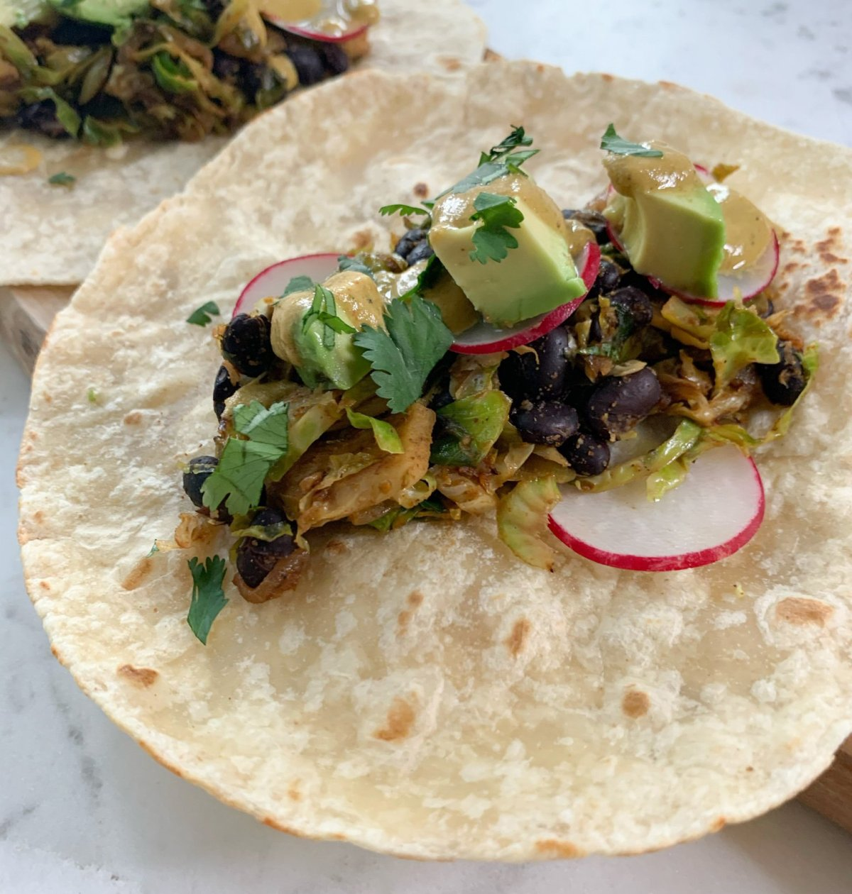 The Co-op | Brussel Sprout Black Bean Tacos