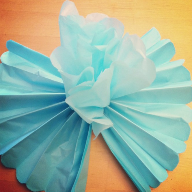 Diy Giant Tissue Paper Flowers Tutorial 2 For 1 00 Make Beautiful Birthday Party Decorations Step 6