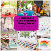 8 Adorable Kids Birthday Party Ideas and a Giveaway for a ...