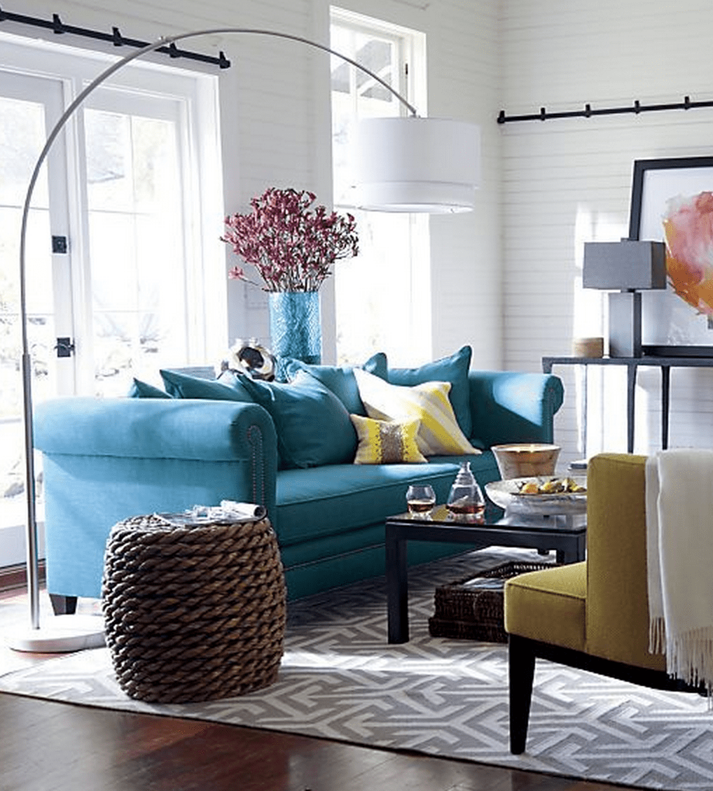grey blue and yellow living room ideas color with gray teal scheme decor inspiration a