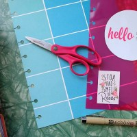 How To Punch Holes In Happy Planner Pages When You Don't Have An Arc Punch