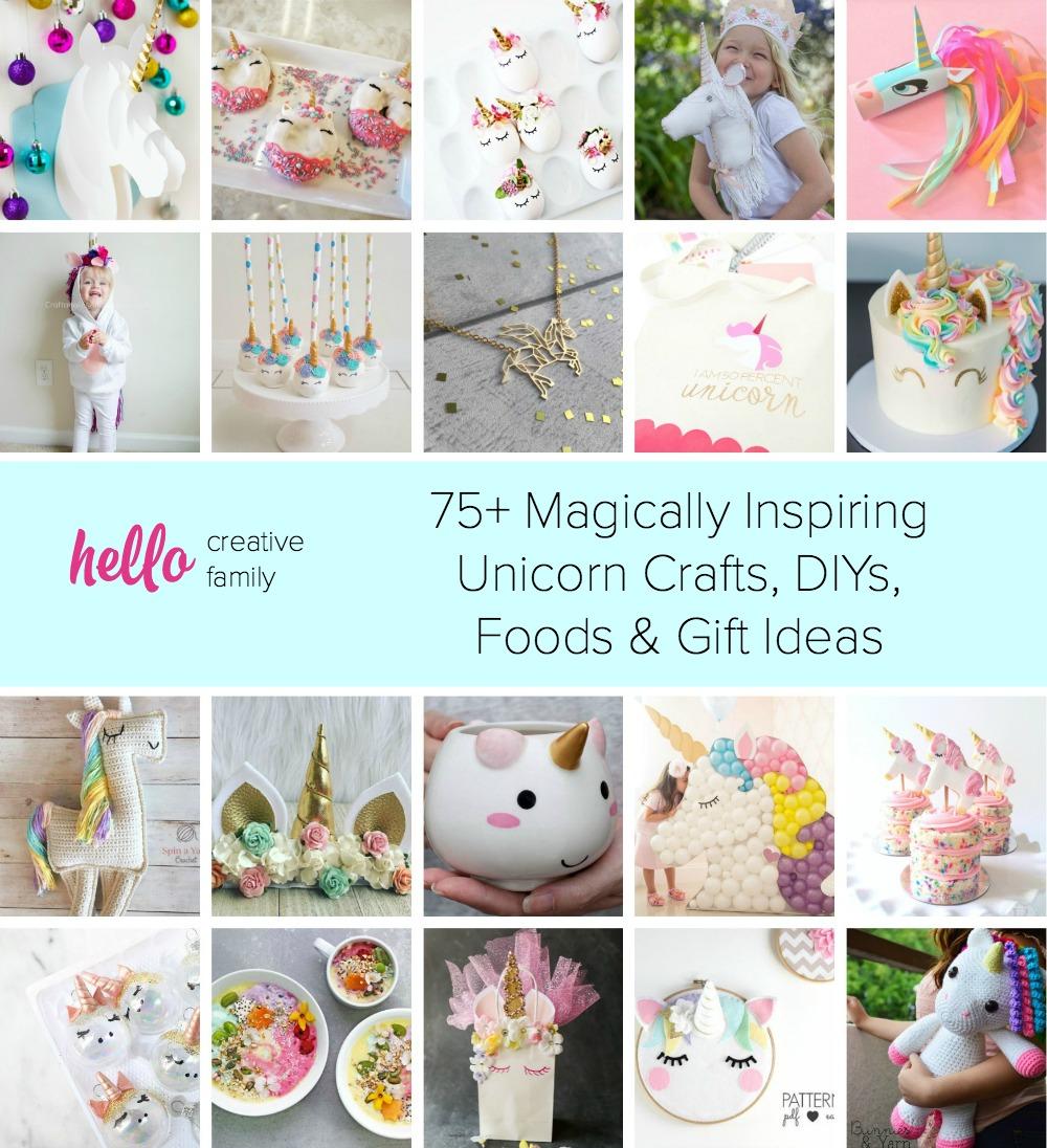 75 Magically Inspiring Unicorn Crafts Diys Foods And Gift Ideas Hello Creative Family