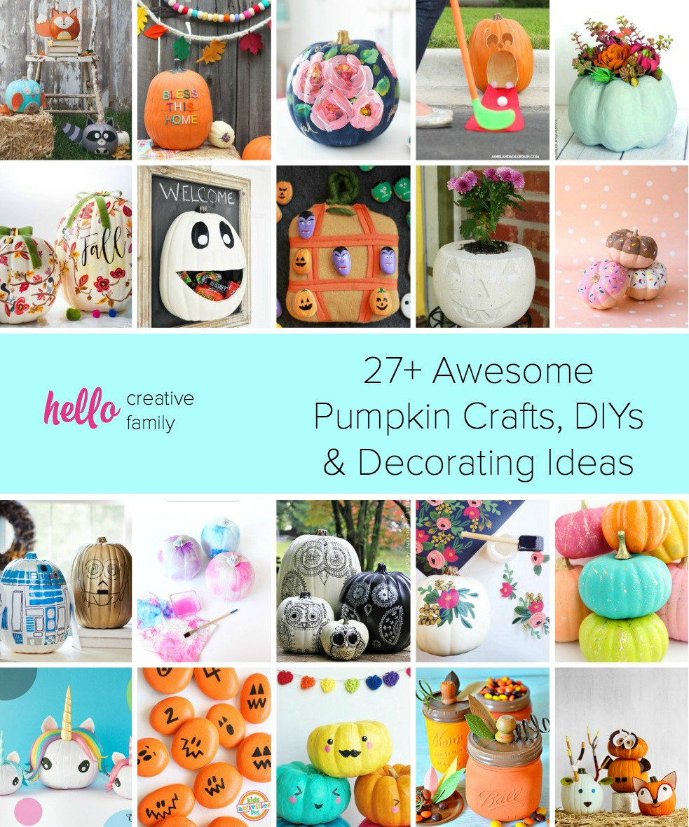 27 awesome pumpkin crafts