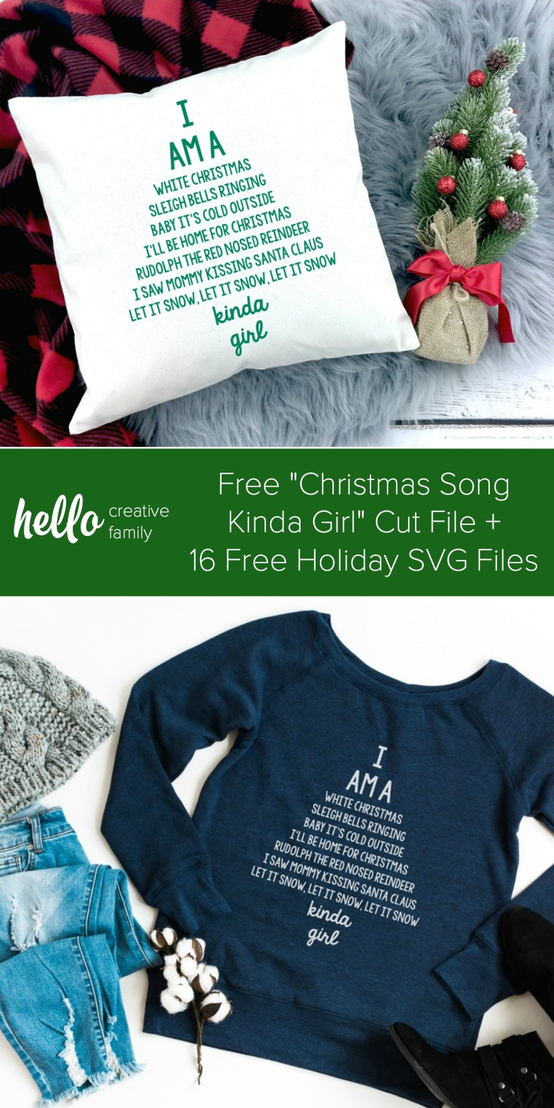 Download 16 Free Christmas SVG Files + Cricut EasyPress 2 Review