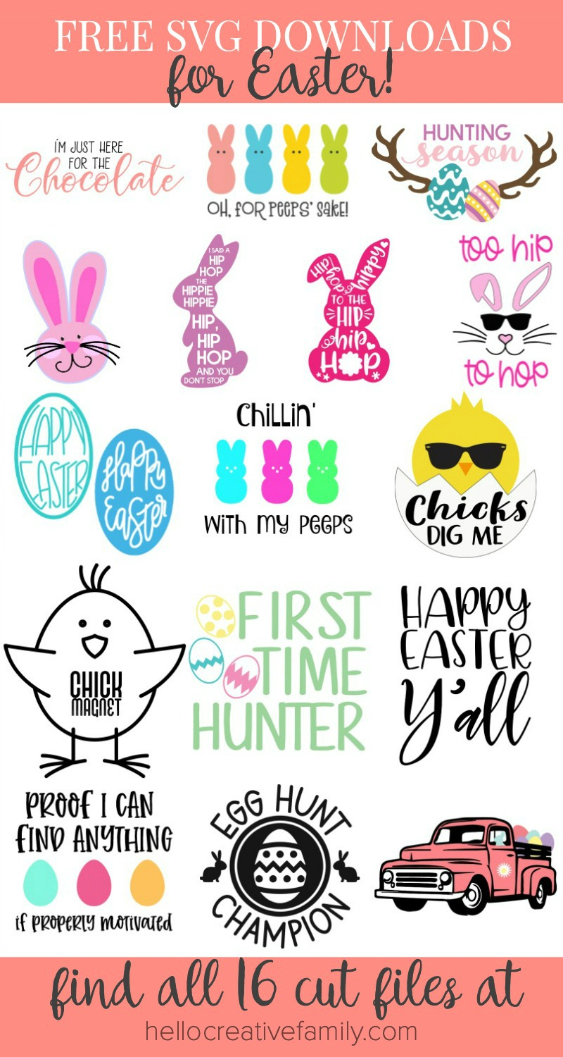 Download 16 Free Easter SVG Cut Files Including Chillin With My ...