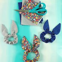 Easy 10 Minute Bunny Ear Scrunchy Sewing Tutorial - With Free SVG To Cut Fabric With Your Cricut Maker