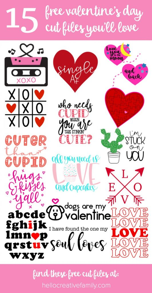Download Love Arrows SVG File + 15 Free Valentine's Day Cut Files