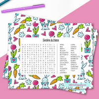 Free Spring Word Search Printable