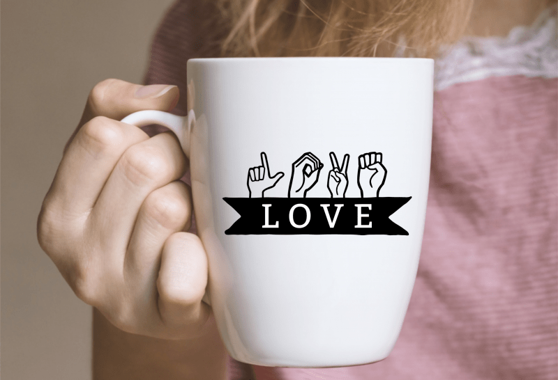 Download ASL Love Cut File + Free Love and Peace SVGs - Hello ...