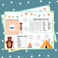 Free Camping Activities Printable Placemat + 18 Camping & Road Trip Printables