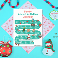Free Family Advent Calendar  Printable With Blank and Filled In Versions