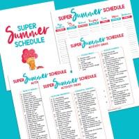 16 Free Summer Printables Including Super Summer Schedule