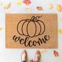 Welcome Pumpkin SVG + 11 Fall Sign Cut Files