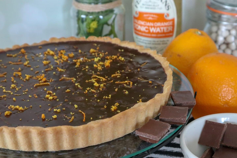Gin and Valencian Orange Tonic Chocolate Tart