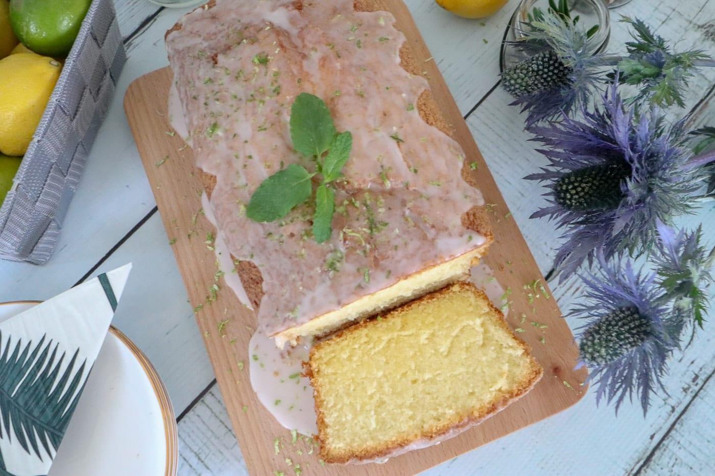 Gin and Yuzu Tonic Drizzle Cake