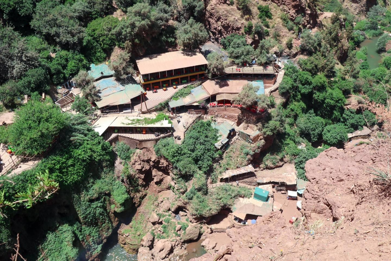 The Ouzoud Waterfalls village