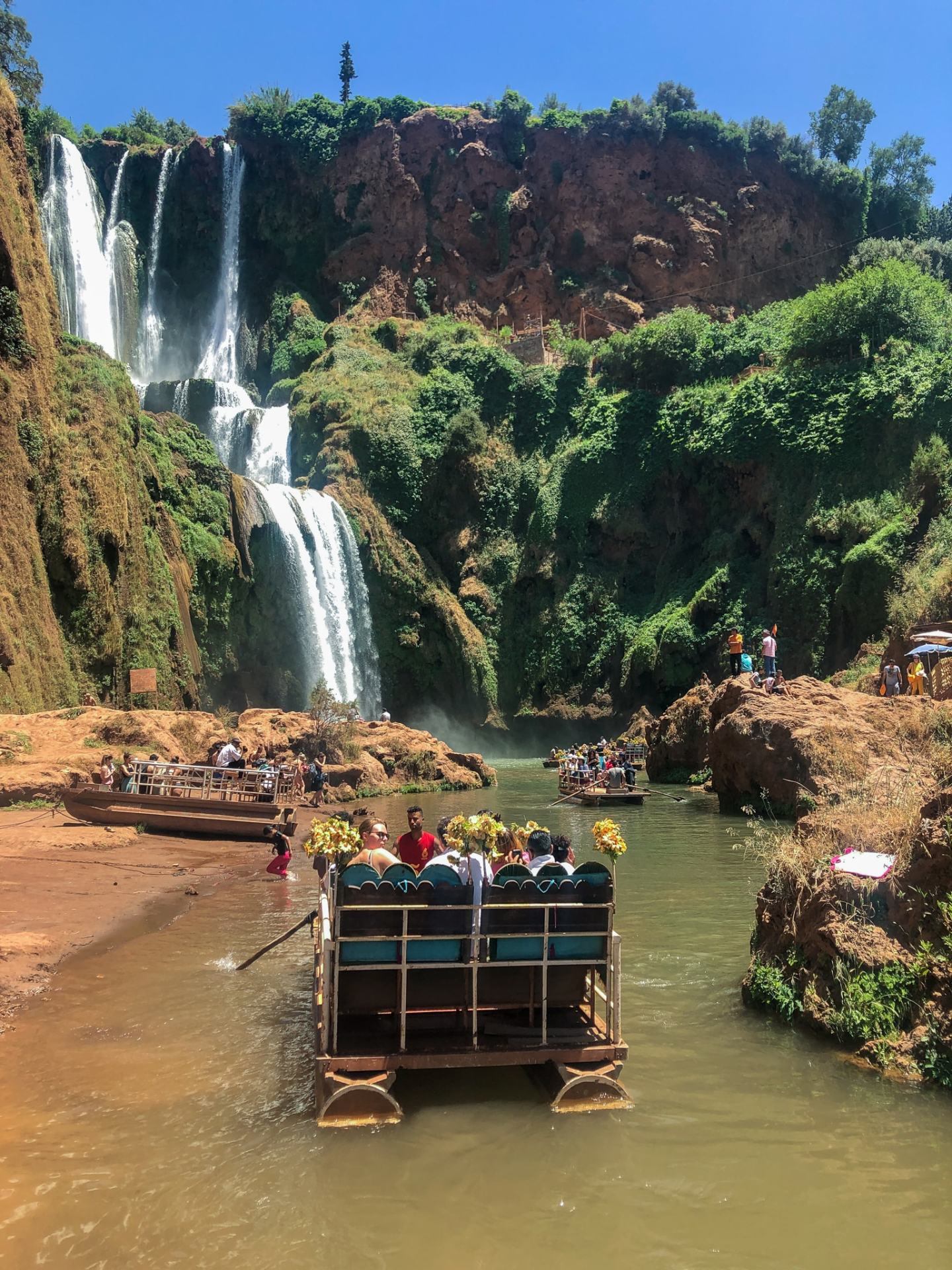 Boat ride at The Ouzoud Waterfalls