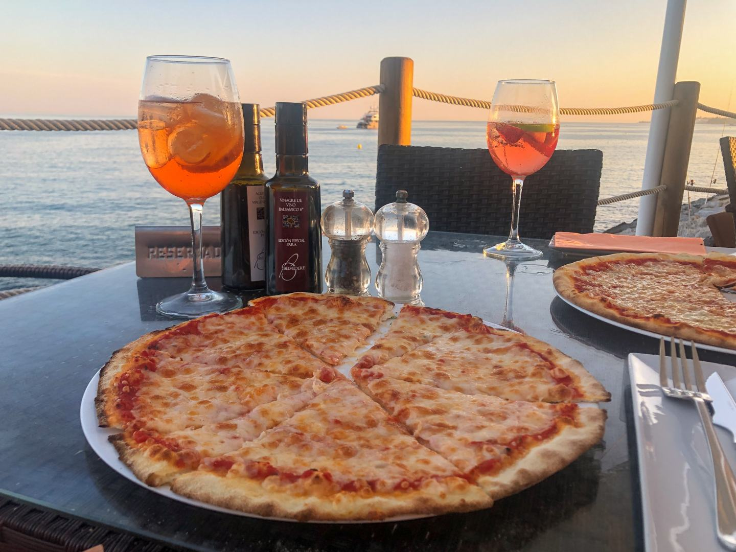 Pizza and Aperol