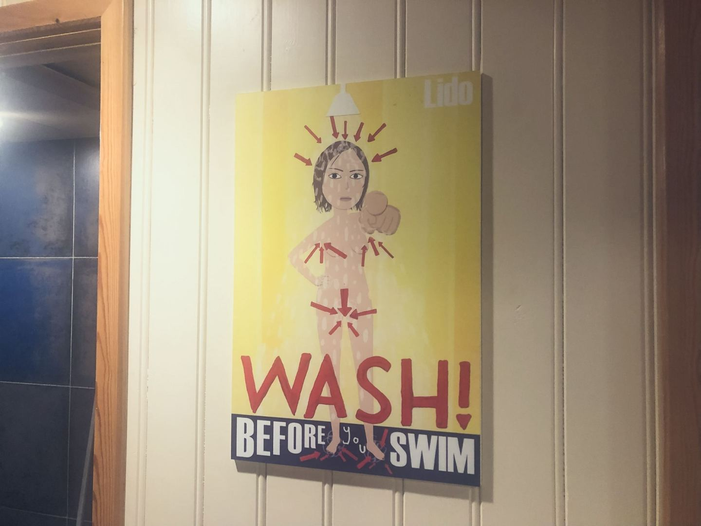 Sign in Thames Lido