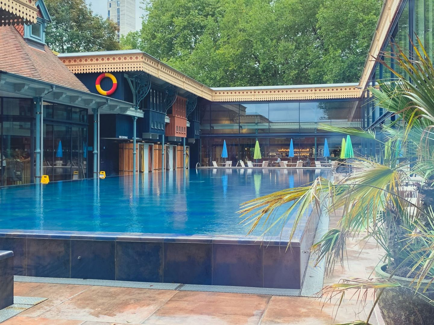 The pool at Thames Lido