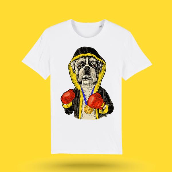 Tricou-alb-personalizat-Boxer---Tricou-caini-boxer-barbati---Hello-Doggie