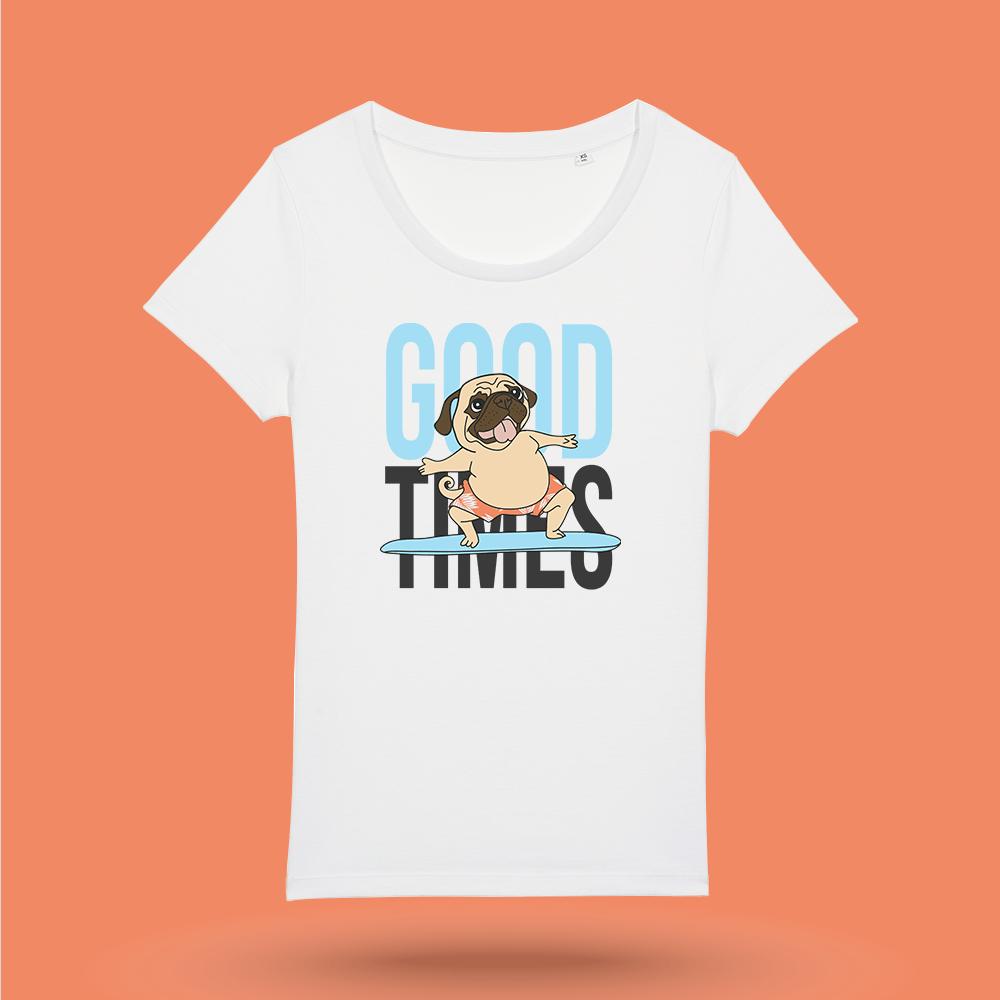 tricou-alb-femei-good-times