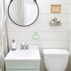 Cheap Kitchen Remodel Cabinet Feet Farmhouse Style Bathroom Makeover In One Weekend - Hello ...