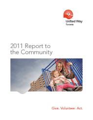 2011-2012 United Way Toronto Report to the Community