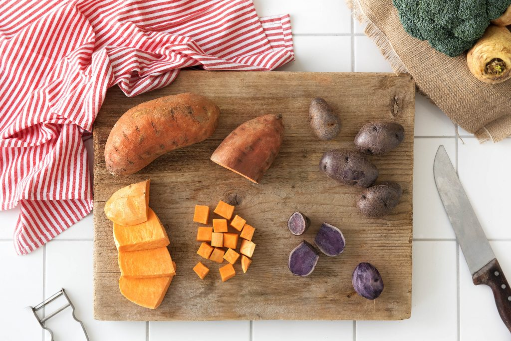 unique foods-produce-purple-sweet-potatoes-HelloFresh