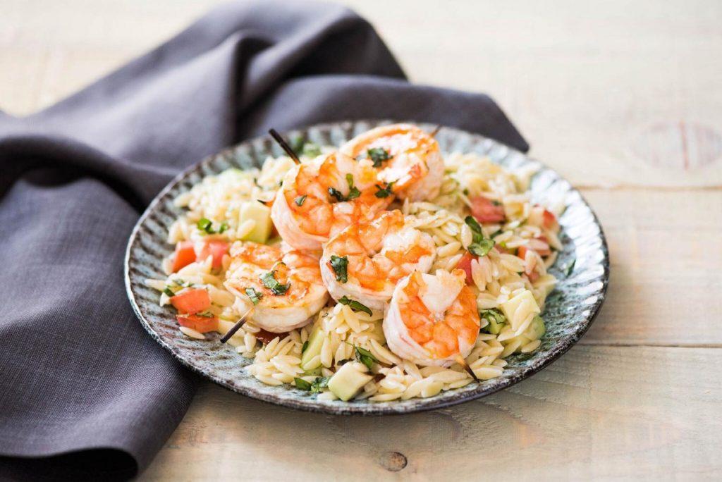 how to cut an avocado-lemon-basil-shrimp-skewers-HelloFresh